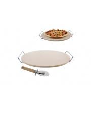 Kamień do pieczenia pizzy 33 cm z uchwytem + nóż w sklepie Dedekor.pl