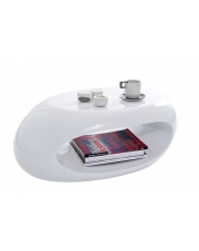 Nowoczesny stolik ELIPSE biały w sklepie Dedekor.pl