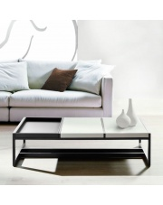 Designerski stolik MINDY biało - szary w sklepie Dedekor.pl