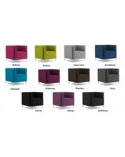 Modernistyczny fotel BILBU - 11 kolorów w sklepie Dedekor.pl