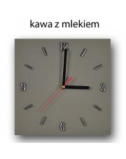 Duży zegar szklany 33x33 cm - kolory w sklepie Dedekor.pl