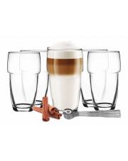 Zestaw szklanek z łyżeczkami do kawy herbaty wody