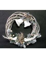 Wianek na drzwi świąteczny dzwoneczki w sklepie Dedekor.pl