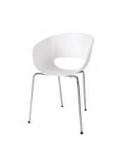 Nowoczesne krzesło DELLY białe w sklepie Dedekor.pl