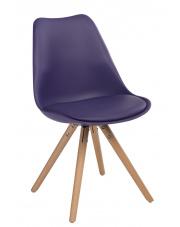 Modernistyczne krzesło CHARLIE fioletowe w sklepie Dedekor.pl
