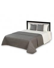 Dwustronna narzuta na łóżko ELIZE biało-szara w sklepie Dedekor.pl