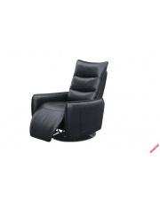 Czarny recliner MIDAL - eco skóra