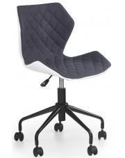 Obrotowy fotel biurowy Kartex biało-szary
