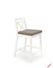 Stylowe krzesło barowe MAURI - białe w sklepie Dedekor.pl