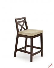 Stylowe krzesło barowe MAURI - ciemny orzech w sklepie Dedekor.pl