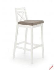 Modne krzesło barowe MAUDI - białe w sklepie Dedekor.pl