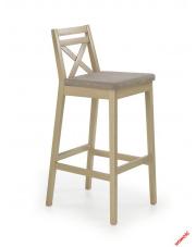 Modne krzesło barowe MAUDI - dąb sonoma w sklepie Dedekor.pl