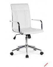 Biały fotel pracowniczy Parker