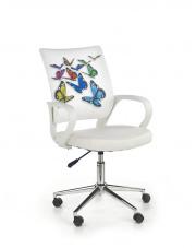 Uroczy fotel młodzieżowy FLY biały