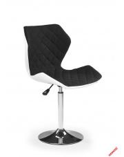 Fotel młodzieżowy RENNIE czarno-biały