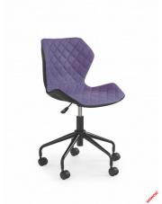 Czarno-fioletowy fotel młodzieżowy VIOLA w sklepie Dedekor.pl