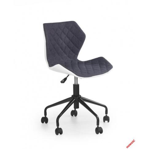 Biało-popielaty fotel młodzieżowy VIOLA  w sklepie Dedekor.pl