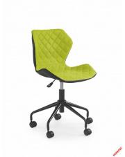 Czarno-zielony fotel młodzieżowy VIOLA w sklepie Dedekor.pl
