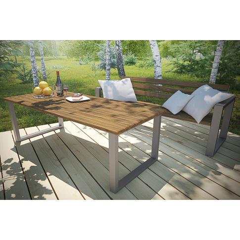Ogrodowy stół drewniany 150 cm w sklepie Dedekor.pl