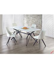 Stylowy stół rozkładanyTRAPEZ - biały w sklepie Dedekor.pl