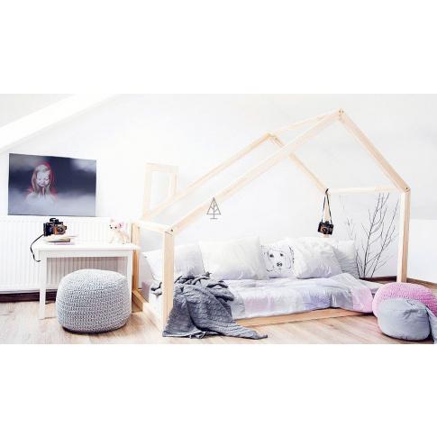 Łóżko drewniane  domek Cleo  w sklepie Dedekor.pl