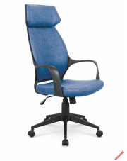 Wygodny fotel gabinetowy ORTUS - niebieski