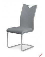Popielate krzesło KIMBI - eco skóra w sklepie Dedekor.pl