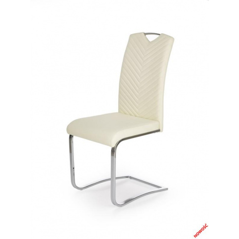 Piękne krzesło VIRTUS - kremowe w sklepie Dedekor.pl