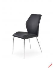 Czarne krzesło TORENO - eco skóra w sklepie Dedekor.pl