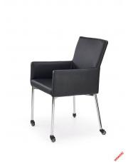 Komfortowe krzesło na kółkach PRESTO - czarne w sklepie Dedekor.pl