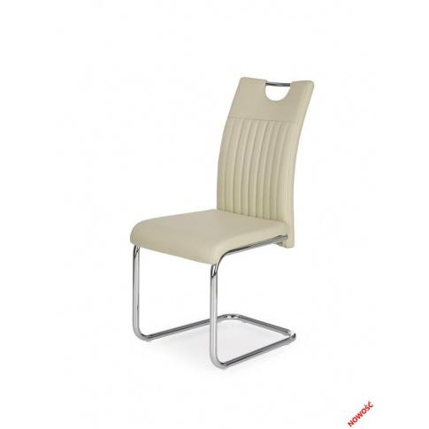 Stylowe krzesło ATROS - kremowe w sklepie Dedekor.pl