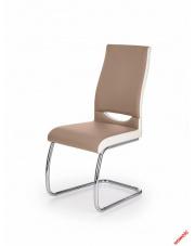 Wyjątkowe krzesło MILEA - cappuccino i biel w sklepie Dedekor.pl