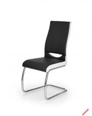 Czarno - białe krzesło MILEA - eco skóra w sklepie Dedekor.pl