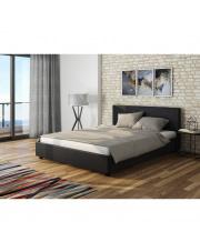 Łóżko Verona tapicerowane  czarne 140/200 w sklepie Dedekor.pl
