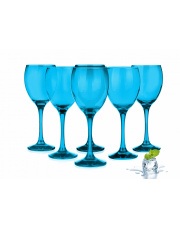 Ekskluzywne kieliszki  do wina niebieski