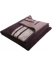 Ręczniki Ornament 50x90 brąz w sklepie Dedekor.pl