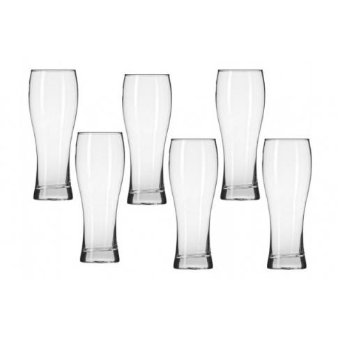 6 szklanek pokali do piwa 330 ml NORMA KROSNO w sklepie Dedekor.pl