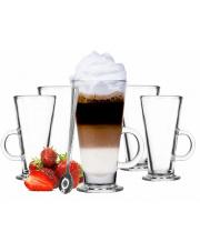 Komplet szklanek latte z łyżeczkami deserowymi w sklepie Dedekor.pl
