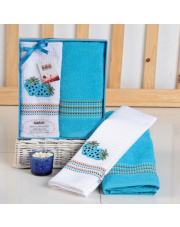 Zestaw ręczników kuchennych PIXI niebieski w sklepie Dedekor.pl