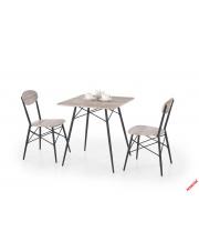 Nowoczesny zestaw stołowy CAPRI - dąb i czarny