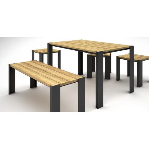 Niewiarygodnie Nowoczesny drewniany stół do ogrodu Nord 180cm , Stoły ogrodowe RL38