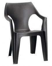 Modne krzesło ogrodowe DAN czarne
