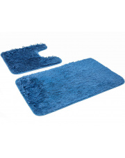 Zestaw dywaników do łazienki GRACE - 2 sztuki NIEBIESKIE w sklepie Dedekor.pl