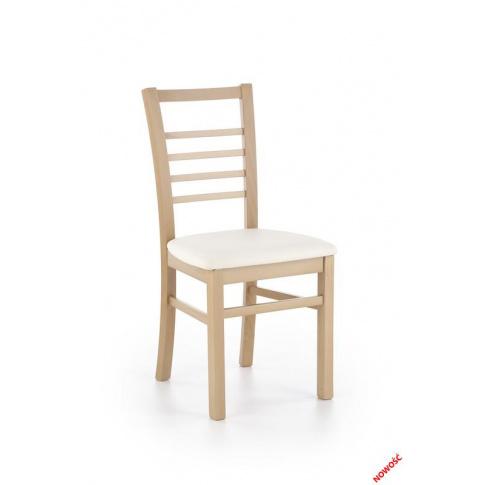 Nowoczesne krzesło drewniane Alers dąb miodowy w sklepie Dedekor.pl