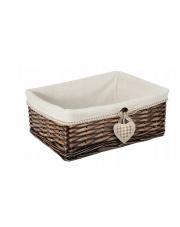 Koszyk wiklinowy wenge 27x17x11 w sklepie Dedekor.pl
