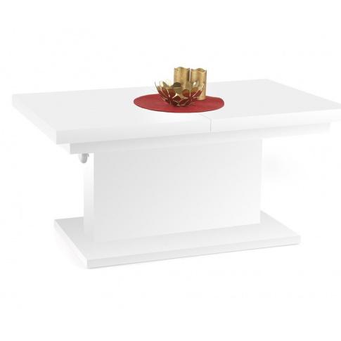 Modernistyczny stół rozkładany DIEGO - biały w sklepie Dedekor.pl