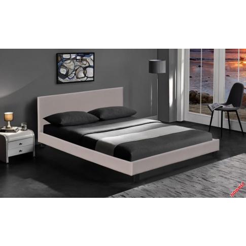 Stylowe łóżko PREMIO - cappuccino w sklepie Dedekor.pl