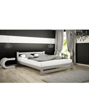 Nowoczesne łóżko podwójne drewniane szare w sklepie Dedekor.pl
