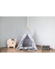TIPI namiot szaro szary wigwam domek poduszki