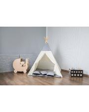 TIPI namiot szaro beżowy wigwam domek okna